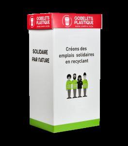 Emballage de collecte de gobelets plastique
