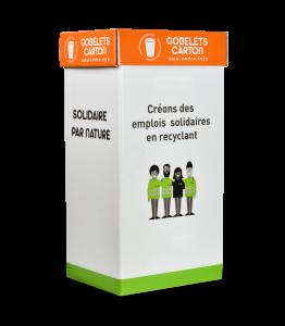 Emballage de collecte de gobelets en carton