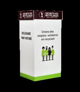 Emballage de collecte de déchets non-recyclables